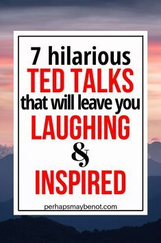 TED talks are great when you want to pass some time (especially if you're bored), so here's a list of some of the funniest talks I watched that I think you'll also love and feel inspired by. Inspirational Ted Talks, Funny Inspirational Sayings, Ted Talks Motivation, Best Ted Talks, Ted Talks For Kids, Encouragement, Self Development, Marketing Digital, Self Improvement