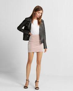 ba220a2ce4 High Waisted Velvet Mini Skirt Going Out Skirts