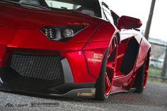 Bloody Red Liberty Walk Lamborghini Aventador LP700 with Fi Exhaust