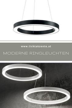 Räume modern beleuchten mit der runden Pendelleuchte Oracle. Mit schlichten und klaren Design trägt die LED Pendelleuchte zur modernen Beleuchtung von Wohnzimmer oder Esszimmer bei. Dank der runden Form eines Ringes harmoniert die Leuchte mit nahezu jedem Raum // Pendelleuchte Kücheninsel, Esstisch Lampe rund, Esstisch Leuchte modern #ring leuchte modern #wohnzimmer modern #beleuchtung #lampen und leuchten #lampe #arbeitszimmer lampen #wohnideen