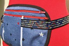Running belt, travel belt or money belt with pouch- FREE pattern