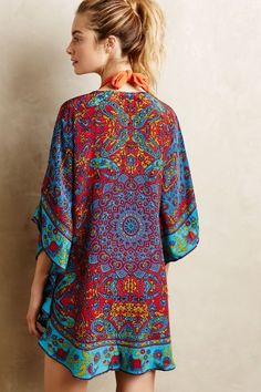 SUCH great colors. Narissa Silk Caftan by Tolani #anthropologie.com