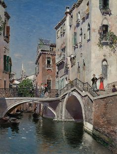 Martin Rico y Ortega - A Summer's Afternoon, Venice. This and more important fine art for sale on CuratorsEye.com