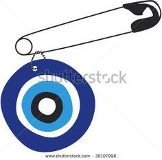 vector illustration of evil eye (amulet, nazar)