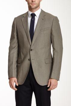 Armani Collezioni Brown Herringbone Two Button Notch Lapel Wool Blazer on HauteLook I really like this look amc/cgc