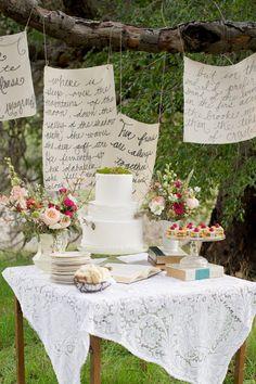 Literature Wedding Inspiration by Megan Hayes Photographer - via ruffled