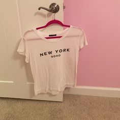 Brandy Melville New York Soho Top Extremely cute and very soft! Open to trades for other Brandy only!! Also open to offers! :) Brandy Melville Tops Tees - Short Sleeve