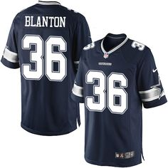 Youth Nike Dallas Cowboys #36 Robert Blanton Limited Navy Blue Team Color NFL Jersey