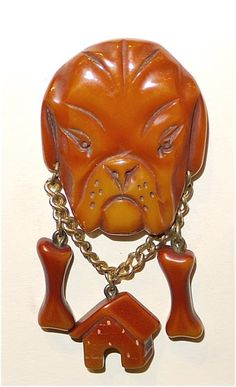 Bulldog Brooch Bakelite. I would never wear this .but animals were quite popular. ALady