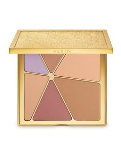 Aerin Kaleidoscope palette AERIN Beauty Kaleidolight face and eye palette features five skin-loving, light-enhancing shades of bronze, beige, pink and lavender to give your skin a subtle glow. Eye Palette, Makeup Palette, Eyeshadow Palette, Diy Beauty, Beauty Makeup, Eye Makeup, Makeup Tips, Beauty Tips, Bronze Makeup