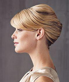 Audrey hepburn french twist hairstyle words... super