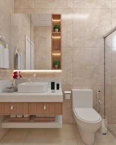 62 simple bathroom design ideas to calm your day 6 Washroom Design, Toilet Design, Bathroom Design Luxury, Home Room Design, Home Design Decor, Home Interior Design, Home Decor, Interior Plants, French Interior
