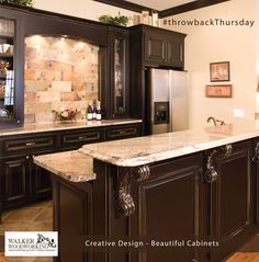 Are you ready to entertain? This is a great bar we did in a basement area a few years back. These areas are great for occasional entertaining.  #throwbackThursday #walkerwoodworking #beautifulcabinets #shelbync #charlotte #asheville #designinspiration  #Greenbrookdesign