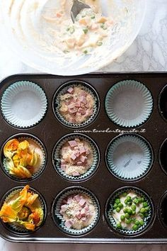 Savory muffins: Quick basic recipe for a thousand different .- Savory muffins: Quick basic recipe for a thousand different flavors! Cranberry Muffins, Cake Design Inspiration, Confort Food, Snack Recipes, Cooking Recipes, Savory Muffins, Food Humor, Funny Food, Party Finger Foods