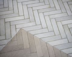 I really like these long white tiles in a herringbone pattern...