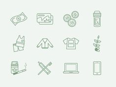 Sage Icons designed by Kevin Haag. Line Icon, Icon Set, Self Help, Icon Design, Line Art, Sage, Design Inspiration, Illustrations, Poster
