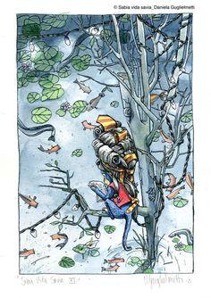 Sabia Vida Savia Illustration book (kind of poetry) by Daniela Guglielmetti, via Behance