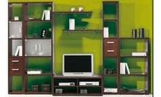 Composición de estanterías para salón. Disponible en tres colores