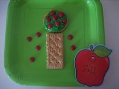 Fall Apple Tree snack great for Johnny Appleseed