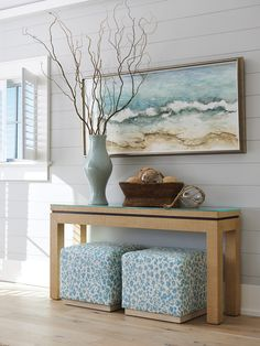 Coastal Living, Coastal Decor, Modern Beach Decor, Coastal Colors, Coastal Furniture, Coastal Style, Estilo Navy, Lexington Home, Nebraska Furniture Mart