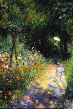 Woman at the Garden ~ Renoir