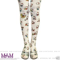 Hello Kitty x MAM Avantgarde Tattoo Tights Pantyhose Stocking Made in Japan Gift | eBay