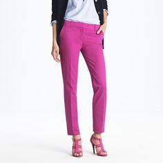 """LOVE the color but as a 5'2"""" woman I can't do ankle crop! Cafe Capri by J.Crew $90"""