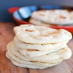 Traditional greek pita bread. So soft and chewy and so easy!
