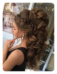 Best Ideas For Wedding Hairstyles : Featured Hairstyle: Elstile; High Ponytail Hairstyles, Down Hairstyles, Headband Hairstyles, Pretty Hairstyles, Easy Hairstyles, Hairstyle Braid, Bridal Hairstyles, Belle Hairstyle, Bridesmaid Hairstyles