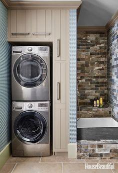 HOUSE BEAUTIFUL PART 3 - design indulgence - Mud/laundry/dirty-kid-or-dog room.
