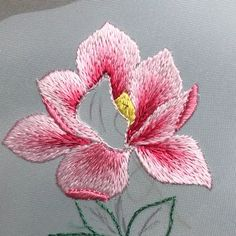 Hand Embroidery Patterns Flowers, Basic Embroidery Stitches, Crewel Embroidery Kits, Hand Embroidery Videos, Hand Embroidery Tutorial, Creative Embroidery, Hand Embroidery Designs, Ribbon Embroidery, Embroidery Ideas