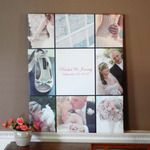 Custom Photo Collage Gallery Wrapped Canvas - Weddings