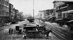 Fountain Square looking West 5th St  Civil War 1859