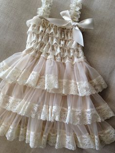 Flower Girl Dress Lace Flower girl dress Baby by PoshPeanutKids