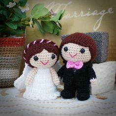 Joshua & Jenni Wedding Dolls Pattern par saplanetamigurumi sur Etsy, $9.80