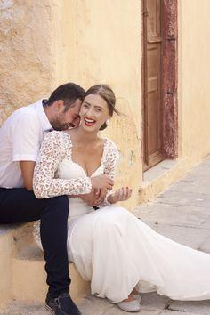 Honeymoon Photo Shoot in Oia Santorini Honeymoon, Santorini Wedding, Greece Honeymoon, Honeymoon Photography, Wedding Photography, Santorini Photographer, Wedding Poses, Wedding Dresses, Our Wedding