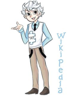 Hey, Wiki here, a.k.a. the human encyclopedia. I am chock full of info about anyone and anything. Teachers don't really seem to like me even though I'm almost always right. I can be a bit blunt and straightforward but still pretty helpful. That's about it, see you around!