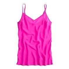 Whether worn alone or layered, this silk cami is a wardrobe must. Hello, desk to drinks to date night. <ul><li>Hits at hip.</li><li>Sandwashed silk crepe de chine.</li><li>Adjustable straps.</li><li>Machine wash.</li><li>Import.</li></ul>