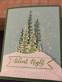 Christmas Cards Silent Night by PaperCraftsbyElaine on Etsy