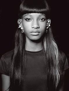 Willow Smith, American child actress & pop singer. She has acted in films I Am Legend and Kit Kittredge: An American Girl, for which she received a Young Artist Award for her performance. More notably, she launched a music career with the release of her singles Whip My Hair, & 21st Century Girl, and signing to her current mentor JAY Z's record label Roc Nation. Whip My Hair peaked at #11 on the Billboard Hot 100. She is the daughter of Will Smith and Jada Pinkett Smith.