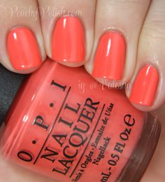 OPI — Toucan Do It If You Try (Brazil Collection | Spring-Summer 2014) on my toes perfect coral color!!