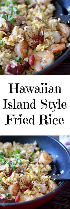 Hawaiian Island Style Fried Rice… A great way to use your leftovers…. Hawaiian Island Style Fried Rice … A great way to use your leftovers …. Rice Recipes, Seafood Recipes, Asian Recipes, Cooking Recipes, Ethnic Recipes, Recipies, Yummy Recipes, Chicken Recipes, Hawaiian Fried Rice