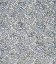 French General Upholstery Fabric-General/Bleu