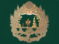 Fensterbild Motiv Holzsammler Erzgebirge von Schwibbogen Shop auf DaWanda.com