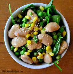 Butter Bean Salad with Toasted Sesame Seeds