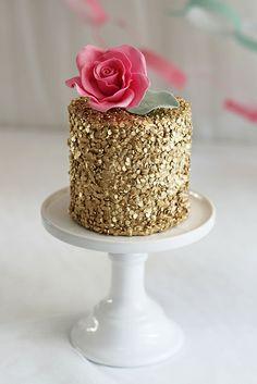 golden sequins cake by sockerrus, via Flickr