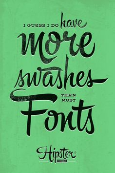 Hipster Words. Get the typeface at www.sudtipos.com