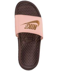 cc3dfd63e Nike Women s Benassi Jdi Swoosh Slide Sandals from Finish Line - Orange 10  Finish Line