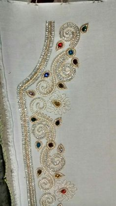 Oriented Stone & Pearl work caftan journey