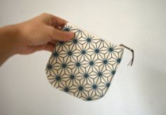 small zippered pouch small coin purse coin purse by UMEHARAKABAN